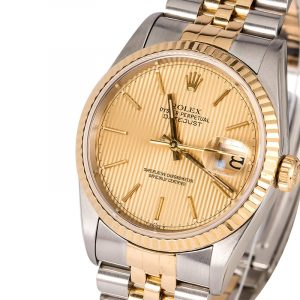gold and silver rolex watch