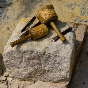 medieval hammer and chisel