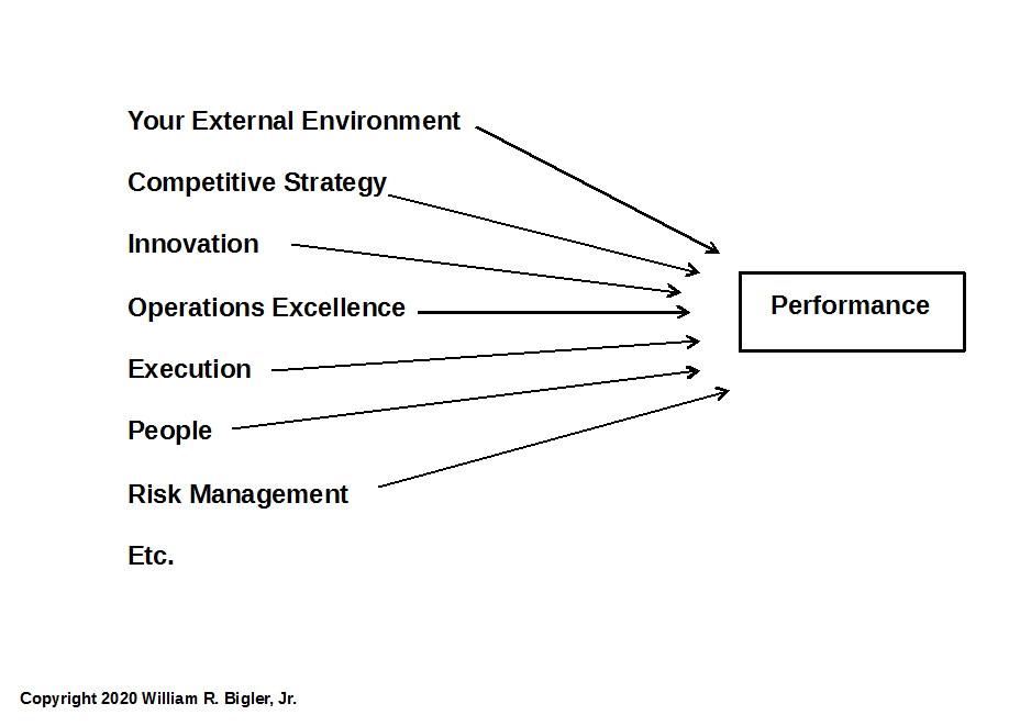 Figure 1: Normal Causation of Driving Your Firm's Performance